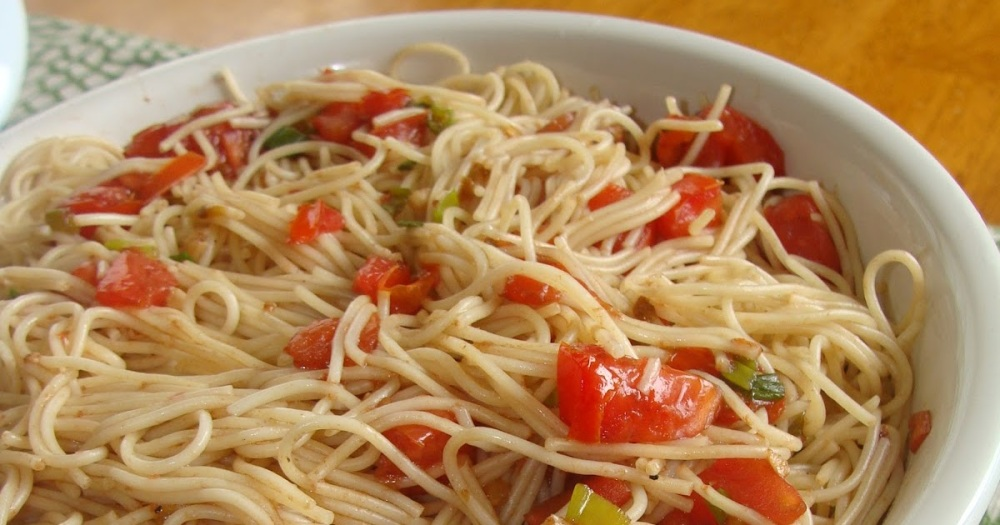 Angel Hair Pasta Salad with Balsamic Tomatoes