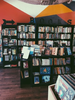 A Cute Little Coffee Shop, Book and Record store.